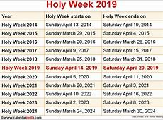 When is Holy Week 2019 & 2020? Dates of Holy Week