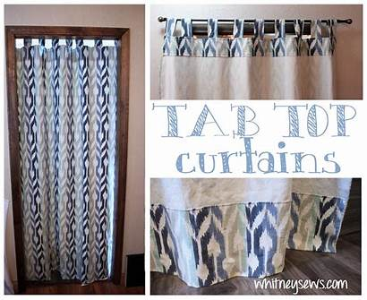 Sewing Tab Curtains Curtain Whitney Sews Bought