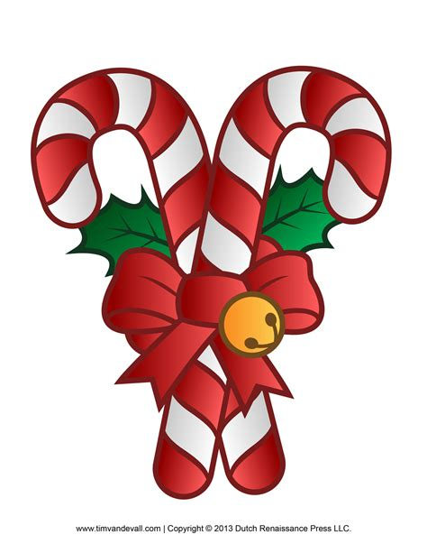 candy cane template printables clip art decorations