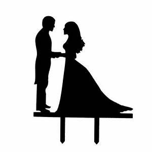 Acrylic Couple Silhouette Wedding Anniversary Cake Cupcake ...