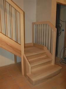 Escalier 1 4 Tournant Droit : c escaliers droits traditionnels jac samson ~ Dallasstarsshop.com Idées de Décoration