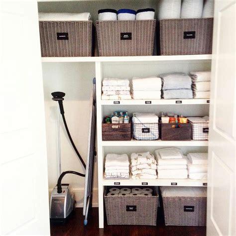 Linen Cupboard Organisation by Linen Closet Linen Closet
