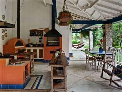 cocina exterior casas de campo decoracion casas de