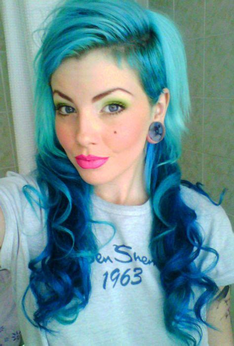 74 Best Blue And Green Hair Images On Pinterest Cabello De