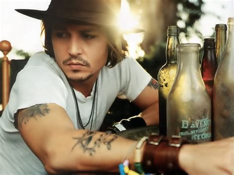 Latest Hollywood Hottest Wallpapers Johnny Depp Tattoos