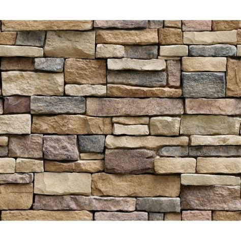 outad   stone brick wallpaper removable pvc wall