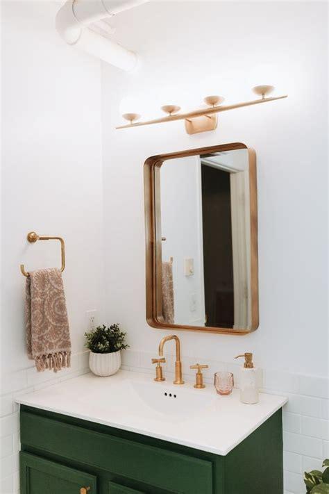gold bathroom mirror ideas    bathroom remodel