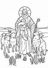 Shepherd Coloring Lord Pages Sheep Jesus Shepherds Popular sketch template