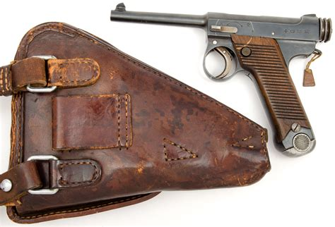 early type  japanese nambu pistol  holster cowan