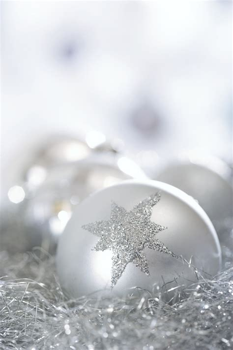 silver christmas ornaments christmas photo 22229599
