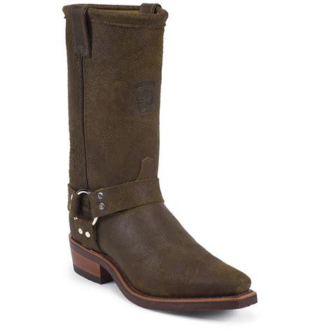 mens brown biker boots men 39 s chippewa 12 quot snip toe harness boots brown 201622