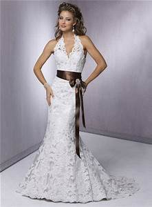 halter top wedding dress lace v neck wedding gown e13 With lace halter neck wedding dress