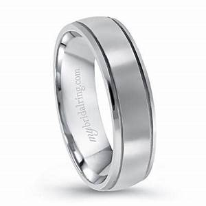 dual groove men39s engagement band With dual band wedding rings