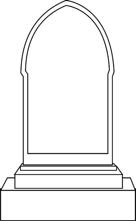 drawn tombstone blank pencil   color drawn