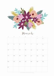 Event Calendar In Excel Printable March 2018 Calendar Monthly Planner Flower
