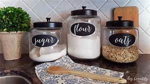 diy labels for kitchen canisters diy beautify With kitchen cabinets lowes with blackboard stickers for jars
