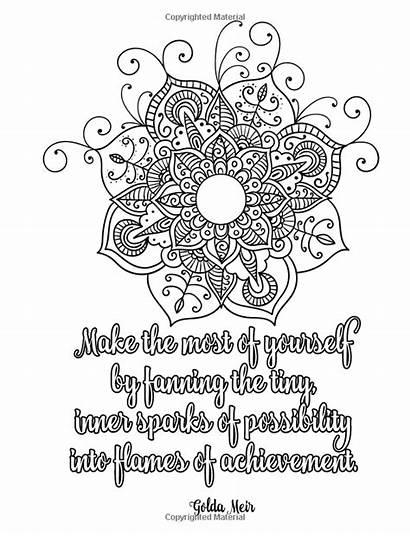 Coloring Motivation Mandalas Adult Pages Inspiration Mandala