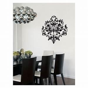 Deco Baroque Moderne : sticker motif floral pour d coration style baroque moderne ~ Teatrodelosmanantiales.com Idées de Décoration