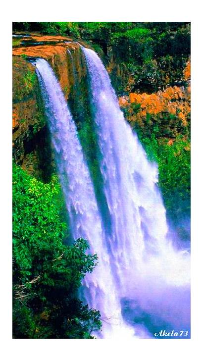 Waterfall Nature Flowing Animated River Waterfalls Landscape