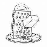 Grinder Symbol Schleifer Icon Single Cartoon Outline Illustrationsnetz Einzelne Ikone Entwurfsart sketch template