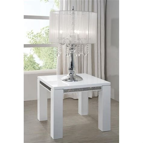 table d appoint blanc laque z