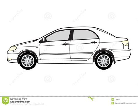 line car stock vector illustration of motor sadan 718827