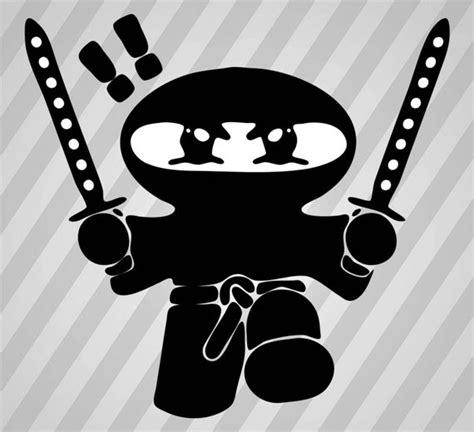 Pretzel Ninja Svg Dxf Eps Silhouette Rld Rdworks Pdf Png Ai