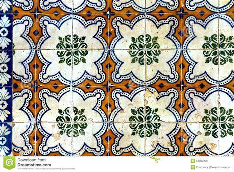 classic mosaic pattern on wall tiles stock photo image