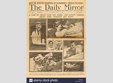 1916 Daily Mirror front page reporting Battle of the Somme