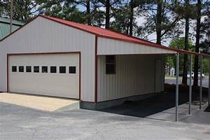 STEEL STRUCTURE GARAGE WITH LEAN-TO CARPORT ATTACHMENT 2