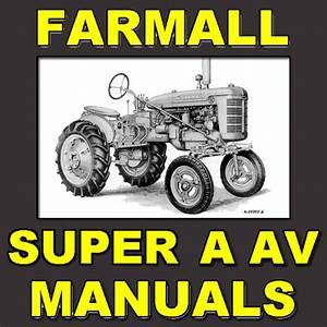 Ih Farmall Super A  U0026 Super Av Tractor Parts Catalog Tc