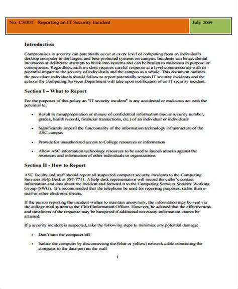 report templates  sample  format
