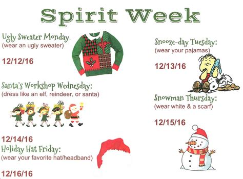 Spirit week is a coveted tradition at most high schools. Yeah!!! Winter Spirit Week! - South Pointe Junior High School