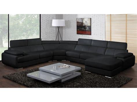 canapé panoramique 7 places canapé panoramique cuir 7 places elevanto noir ou blanc