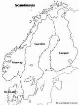 Scandinavia Map Coloring Europe Sweden Outline Maps Norway Scandinavian Denmark Printable Enchantedlearning Number Stars Blank Table Vuori Pages Nimi Ruotsin sketch template