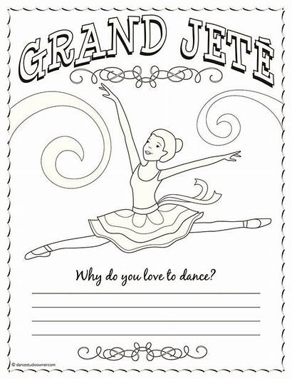 Coloring Dance Pages Jazz Ballet Ballerina Camp
