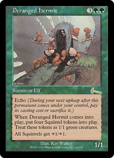 Squirrel Mtg Deck Builder by Deranged Hermit Urza S Legacy Gatherer Magic The