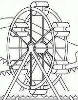 Coloring Wheel Ferris Popular sketch template