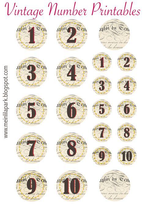 printable vintage number stickers ausdruckbare