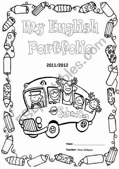English Portfolio Covers Worksheet Esl Portfolios Ingles