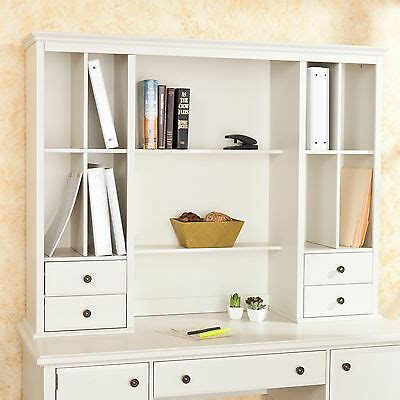 white desk with hutch and drawers barrington white office desk hutch os9072 ebay