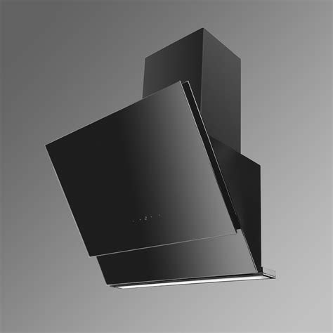 Neptune Angled Glass Kitchen Extractor   Luxair Cooker