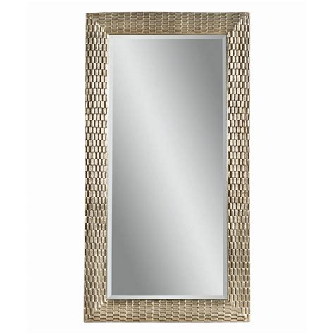 floor mirror silver shop bassett mirror company sazerac silver leaf beveled floor mirror at lowes com