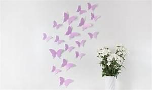 3d Schmetterlinge Wand : wandtattoo 3d schmetterlinge flieder ~ Whattoseeinmadrid.com Haus und Dekorationen