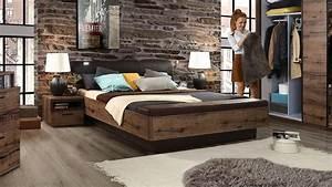 Bett JACKY Schlafzimmer Mit Bank Schlammeiche Und