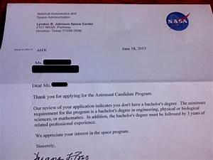Fake NASA Rejection Letter (page 2) - Pics about space