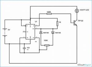 Pwm Led Dimmer Circuit Diagram Using Ic 555 Timer