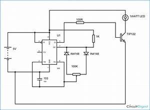 Pwm Led Dimmer Circuit Diagram Using Ic 555 Timer