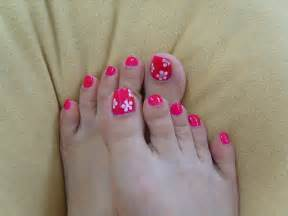 Floral toe nail art polish designs for toenails ^