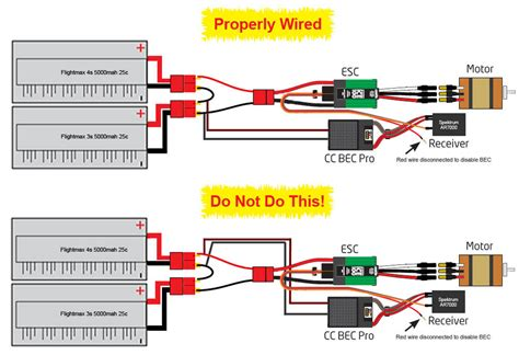 Nitro Servo Wiring by Right Or Wrong Way The Wire 7075 Bec Helifreak